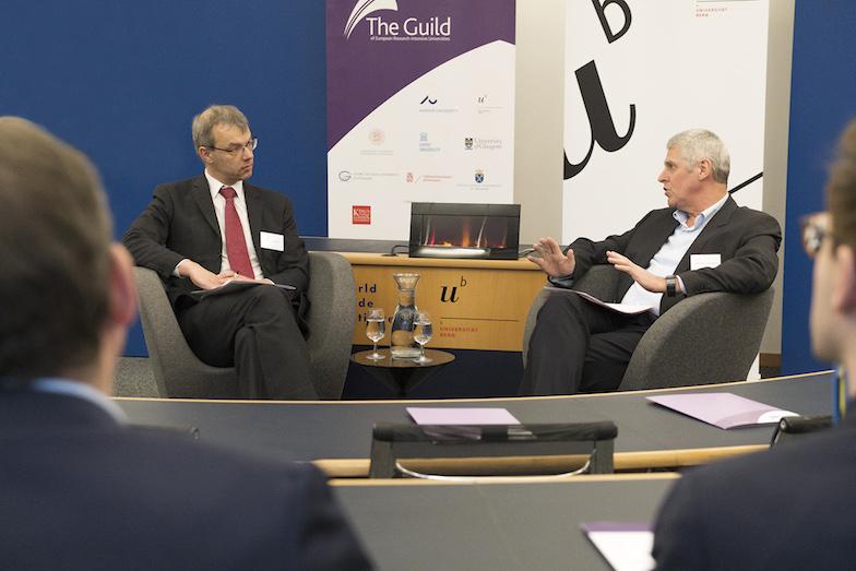 Jan Palmowski (left) and Christian Leumann in conversation